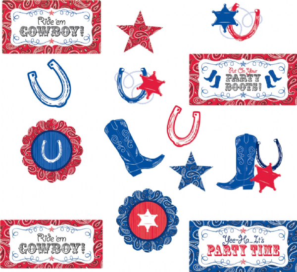 Cowboy - Assorted Card Cut-outs